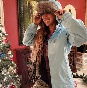 Blue sky ski jacket
